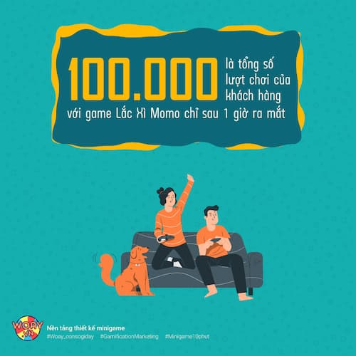 100.000 lượt khách hàng tham gia Game Lắc Xì Momo chỉ sau 01 giờ ra mắt