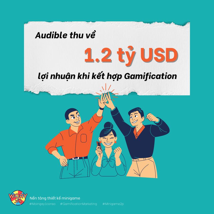 Audible thu về 1.2 tỷ USD lợi nhuận khi kết hợp Gamification