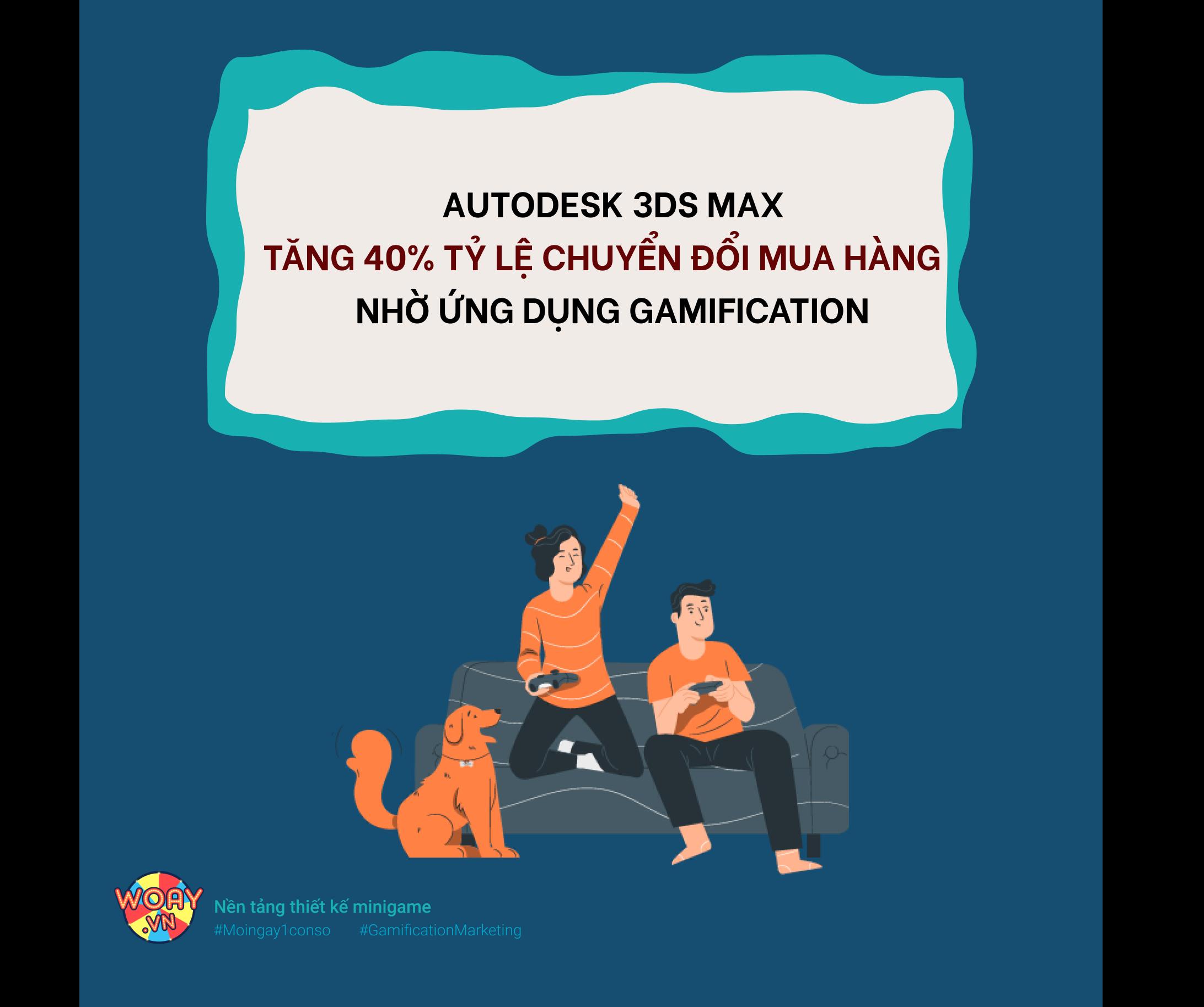Autodesk 3DS Max tăng 40% tỷ lệ chuyển đổi mua hàng nhờ ứng dụng Gamification