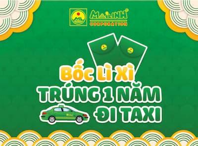 Dịch Vụ Thiết Kế MiniGame Bốc Lì Xì như Mai Linh - Bốc Lì Xì Trúng 01 năm đi Taxi
