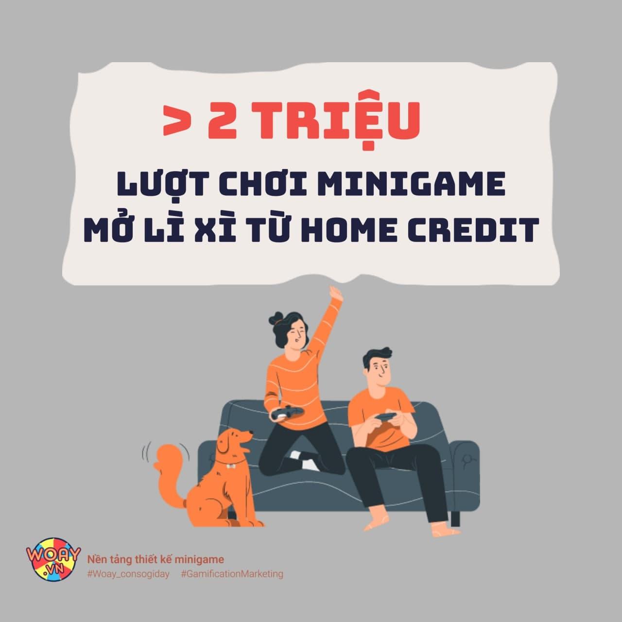 Hơn 2 triệu lượt chơi minigame Mở Lì Xì từ Home Credit
