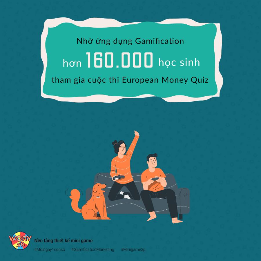 Nhờ ứng dụng gamification hơn 160.000 học sinh tham gia cuộc thi European Money Quiz