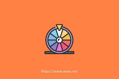 5 bước đơn giản để tạo  minigame vòng quay may mắn cùng Woay