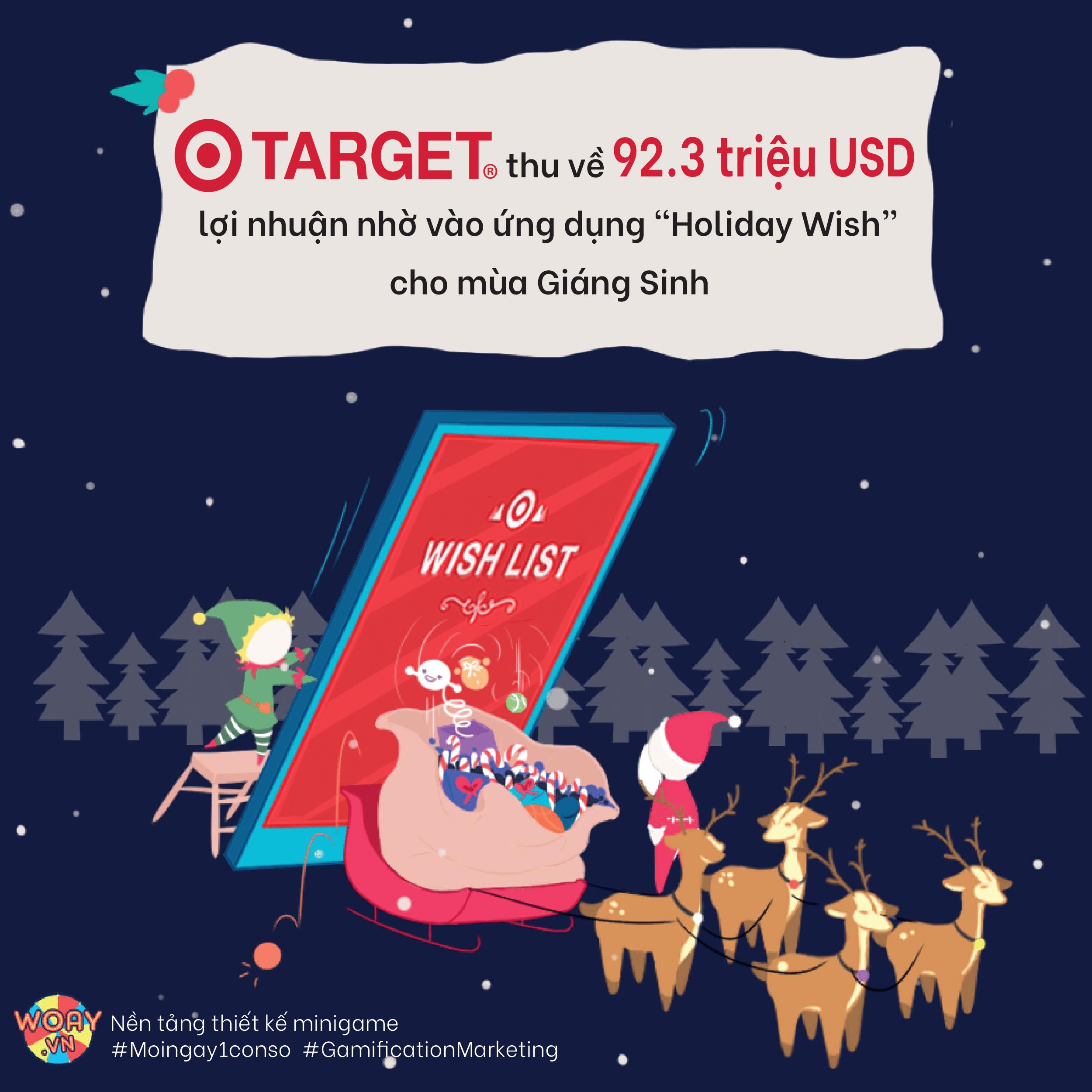 """Target thu về 92.3 triệu USD lợi nhuận nhờ vào ứng dụng """"Holiday Wish"""" cho mùa Giáng Sinh"""